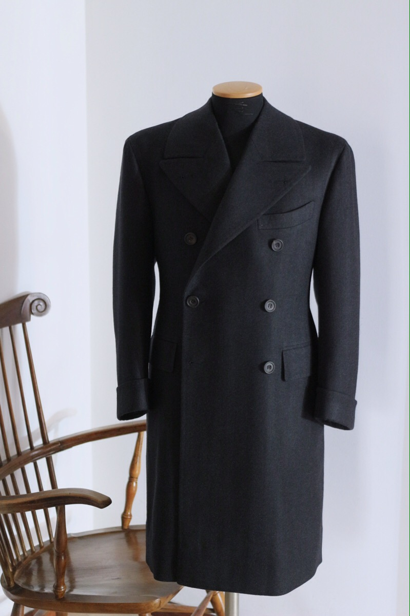 ULSER COAT in VINTAGE WOOL/CASHMERE