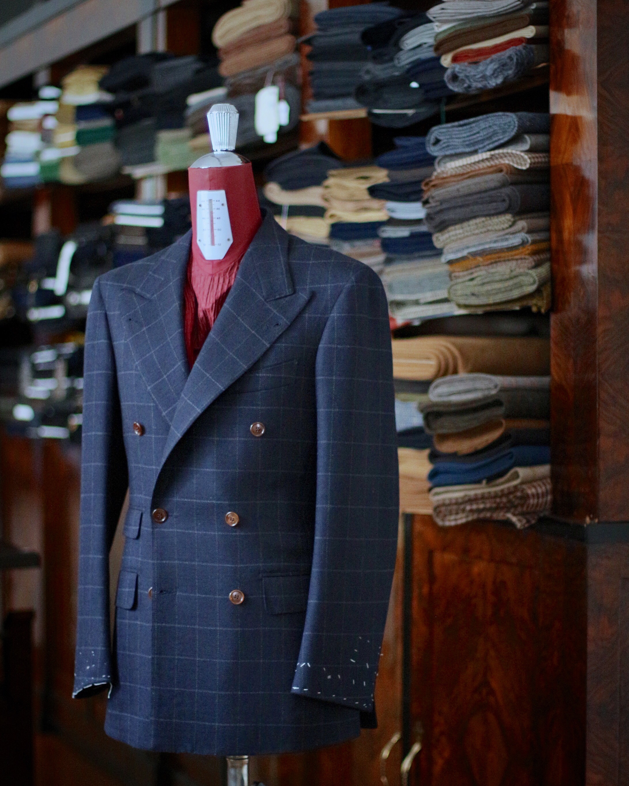 WOOL and CASHMERE WINDOW PANE