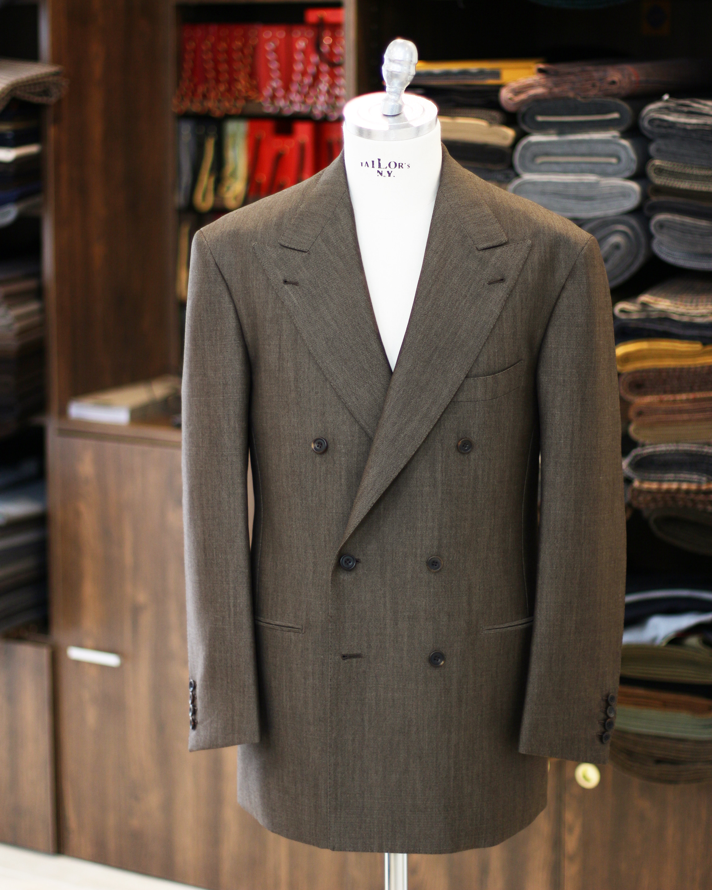 Vintage Brown Mohair Suit